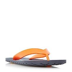 Dune - Orange 'Islannder' classic flip flops