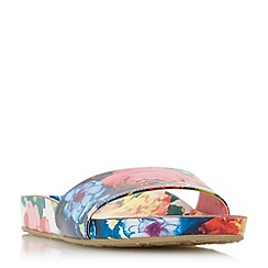 Dune - Multicoloured 'Lilley' floral print slider sandals