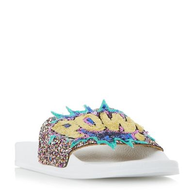 Dune - Multicoloured 'Lila' sequin slogan slider