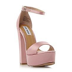 Steve Madden - Pink satin 'Gonzo f' high platform ankle strap sandals