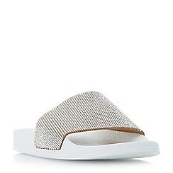 Dune - Light pink 'Las vegas' diamante slider sandals