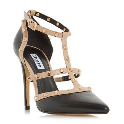 Dune - Black 'Daenerys' studded high heel court shoes