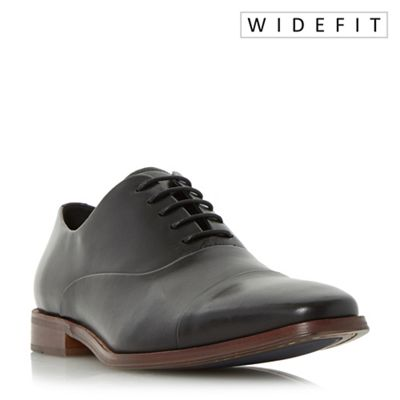 Dune - Black 'Wravenswood' wide fit toecap detail oxford shoes