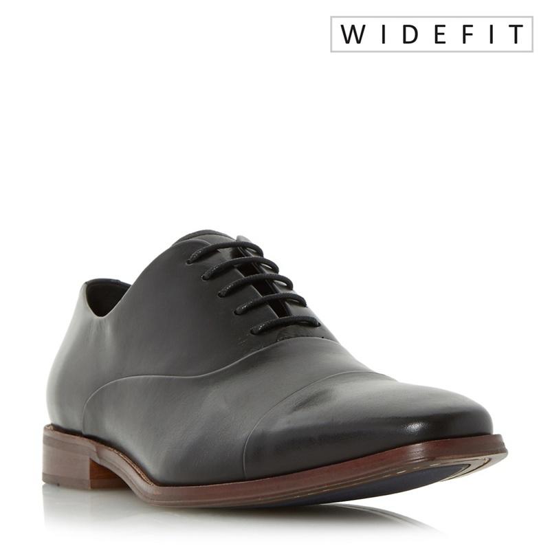 Dune - Black Wravenswood Wide Fit Toecap Detail Oxford Shoes