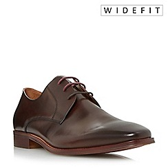 Dune - Brown 'Wrichmonds' wide fit square toe derby shoes