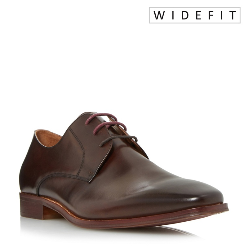 Dune - Brown Wrichmonds Wide Fit Square Toe Derby Shoes