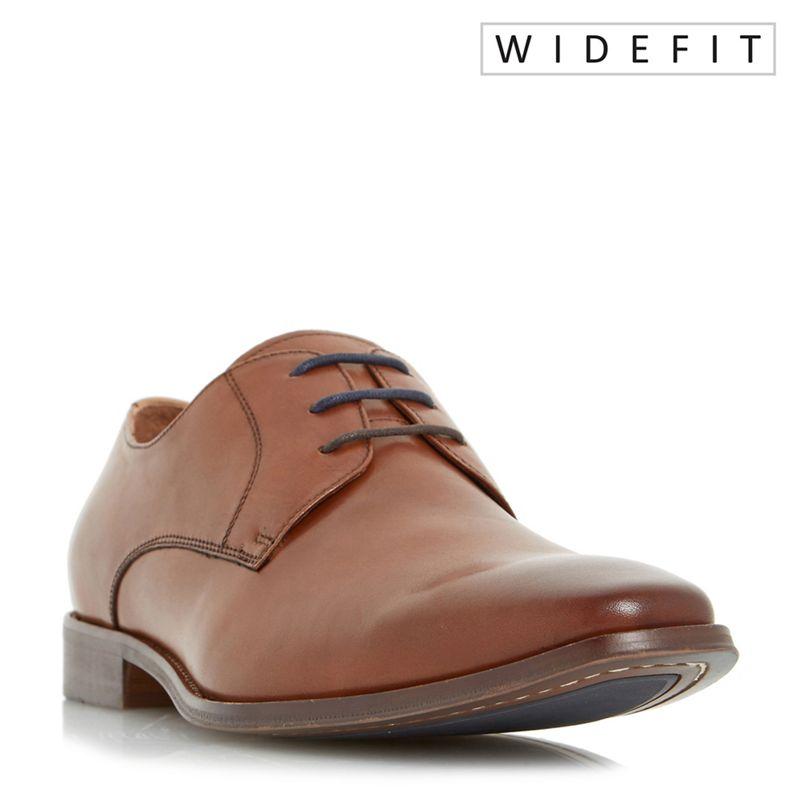 Dune - Tan Wrichmonds Wide Fit Square Toe Derby Shoe