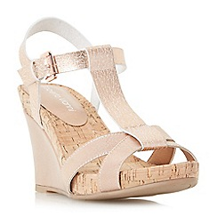 Roberto Vianni - Rose 'Karie' cross strap t-bar wedge sandals