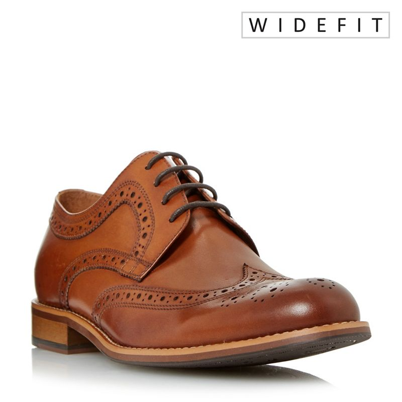Dune - Tan Wradcliffe Wide Fit Derby Brogue Shoes
