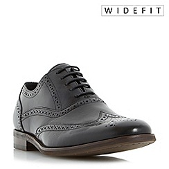 Dune - Black 'Wrugby' wide fit oxford brogue shoes