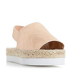 Dune - Rose 'Lucindie' flatform espadrille sandals
