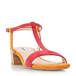 Dune - Multicoloured 'Issie' t-bar stacked heel sandals