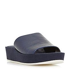 Dune - Navy 'Kallie' flatform mule slider sandals