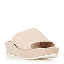 Dune - Natural 'Kallie' flatform mule slider sandals