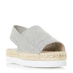Dune - Taupe 'Lucindie' flatform espadrille sandals