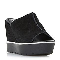 Dune - Black 'Kammi' platform mule wedge sandals