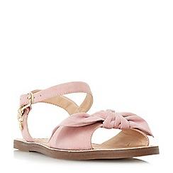 Dune - Pink 'Lettie' bow trim flat sandals