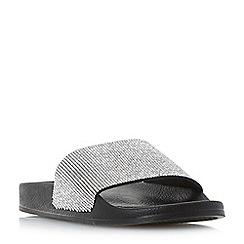 Dune - Black 'Las vegas' diamante slider sandals