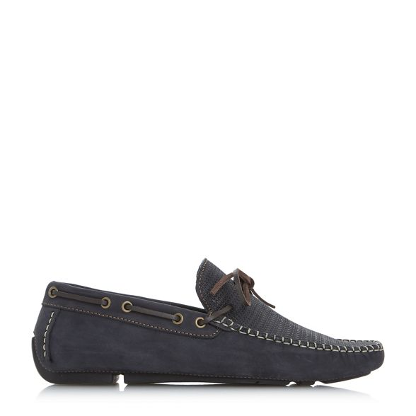 Navy driver loafer Bertie 'Baraboo' shoes woven SvwnqUd