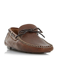 Bertie - Tan 'Baraboo' woven driver loafer shoes