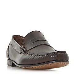 Bertie - Brown 'Primus' penny saddle loafer shoes