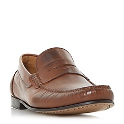 Bertie - Tan 'Primus' penny saddle loafer shoes