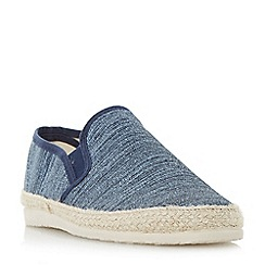Dune - Navy 'Finnick' flecked canvas espadrille shoes
