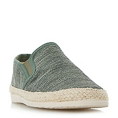 Dune - Green 'Finnick' flecked canvas espadrille shoes