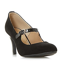 Head Over Heels by Dune - Black 'Ammeline' Mary Jane court shoes