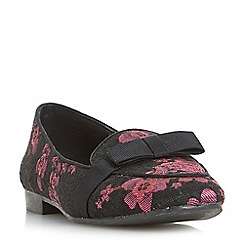 Head Over Heels by Dune - Multicoloured 'Garbo' bow trim loafers