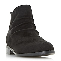 Head Over Heels by Dune - Black 'Piaa' ruched chelsea ankle boots