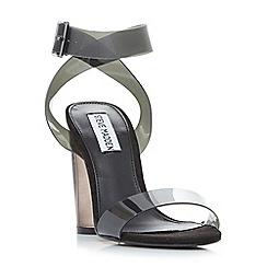 Steve Madden - Grey 'Clearer' high platform ankle strap sandals