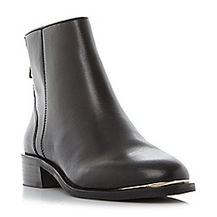 Steve Madden - Black leather 'Rileey' block heel ankle boots