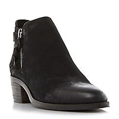 Steve Madden - Black leather 'Kyle' block heel ankle boots