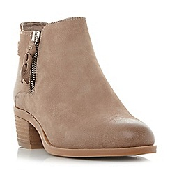 Steve Madden - Natural leather 'Kyle' block heel ankle boots