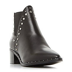 Steve Madden - Black leather 'Doruss' block heel ankle boots