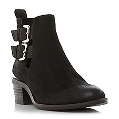 Steve Madden - Black leather 'Picos' block heel ankle boots