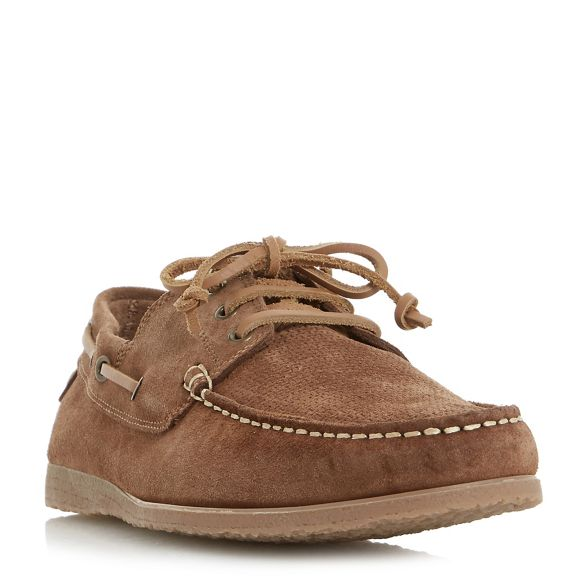 Tan boat 'Beach shoes Bertie house' suede lace up daxqfH