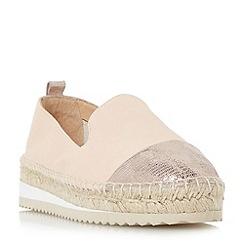 Dune - Natural 'Guest' slipper cut toecap espadrille shoes