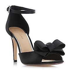 Roland Cartier - Black 'Marcie' two part bow trim sandals