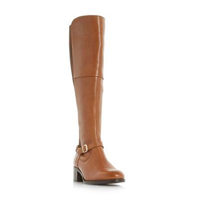 Roberto Vianni - Tan 'Tierny' buckle strap over the knee boots