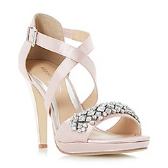 Head Over Heels by Dune - Natural 'Maisy' jewelled strap high heeled sandals