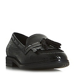 Dune - Black 'Goodness' buckle detail loafers