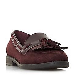 Dune - Maroon 'Goodness' tassel loafers