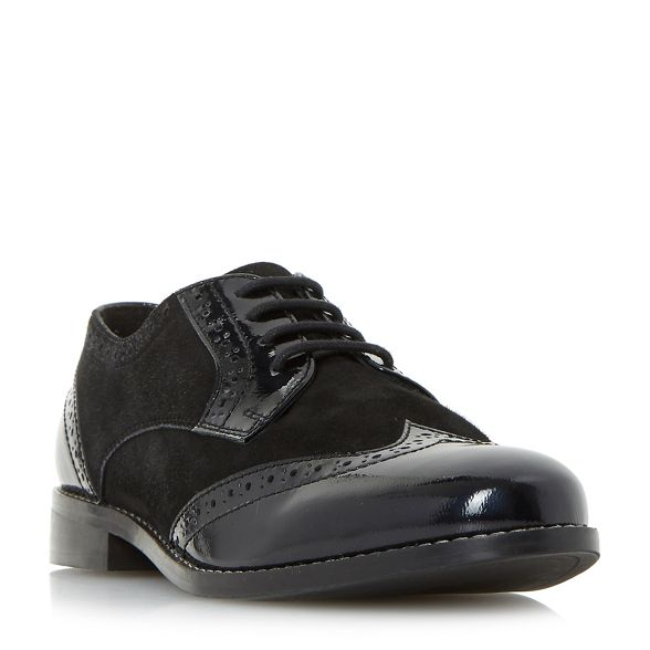 brogues lace mix Dune 'Foxxy' Black up material IwnY8Cq
