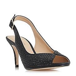 Roland Cartier - Black 'Maizie' slingback peep toe shoes