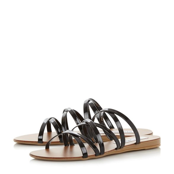 'Rory' Steve patent Madden sandals Black HfnRHx7OY