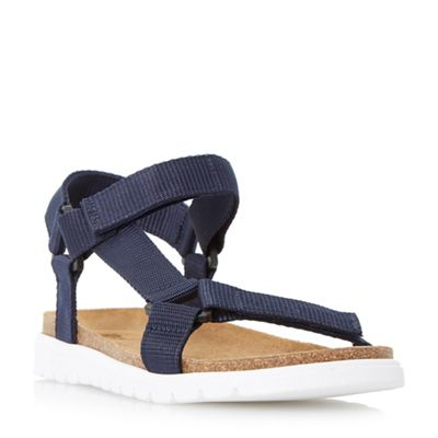Dune - Navy 'Iggy' rip tape adventure sandals