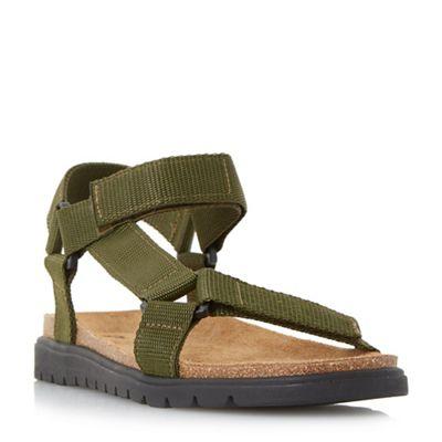 Dune - Khaki 'Iggy' rip tape adventure sandals
