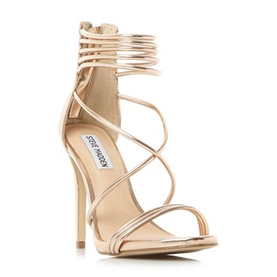 Steve Madden - Rose leather 'Answer' high stiletto heel ankle strap sandals